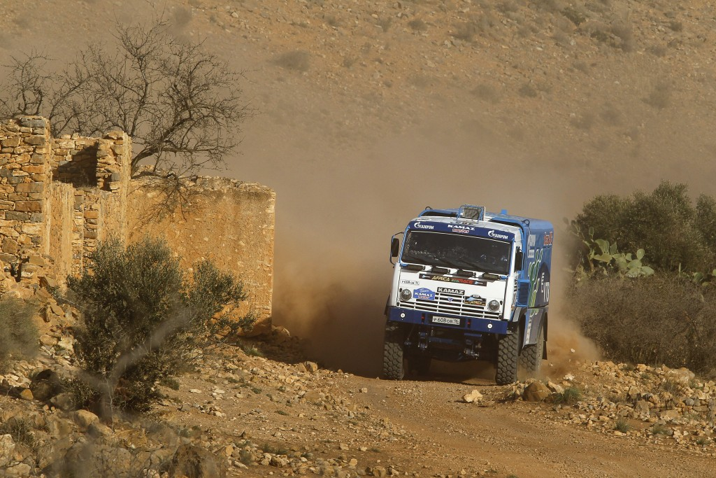 KUPRIANOV Sergey, KUPRIANOV Alexander, TANIN Anatoly (RUS) KAMAZ, action , 2015 Africa Race off road rally, from december 27 2015 to January 10 2016, from Monaco to Dakar, Photo Jorge Cunha / DPPI