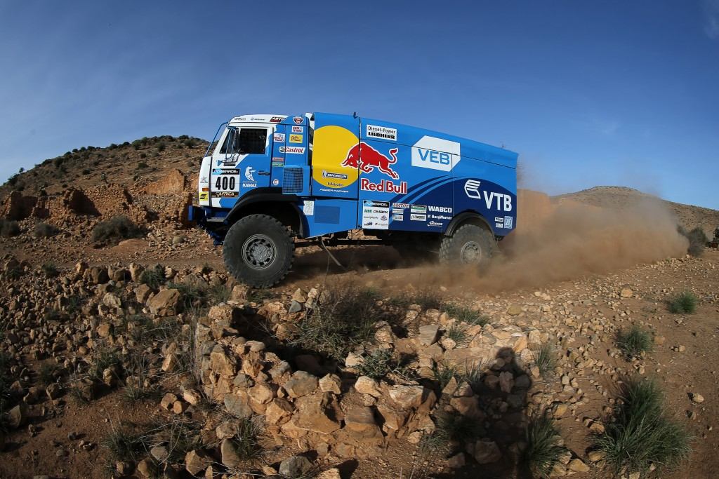 SHIBALOV Anton, AMATYCH Robert, KHISAMIEV Almaz (RUS) KAMAZ action , 2015 Africa Race off road rally, from december 27 2015 to January 10 2016, from Monaco to Dakar, Photo Jorge Cunha / DPPI