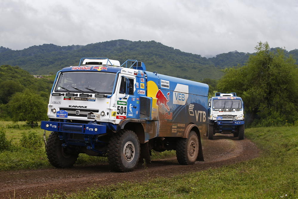 504 KARGINOV ANDREY MOKEEV ANDREY LEONOV IGOR (rus) KAMAZ action during the Dakar 2016 Argentina Bolivia, Etape 3 - Stage 3, Termas de Rio Hondo - Jujuy, from January 5, 2016 , Argentina - Photo Frederic Le Floc'h / DPPI
