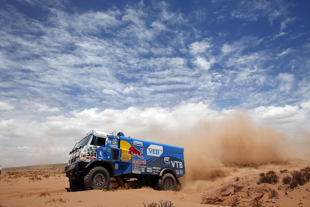 504 KARGINOV ANDREY MOKEEV ANDREY LEONOV IGOR (rus) KAMAZ action during the Dakar 2016 Argentina,  Bolivia, Etape 6 - Stage 6, Uyuni - Uyuni,  from  January 8, 2016 - Photo Frederic Le Floc'h / DPPI