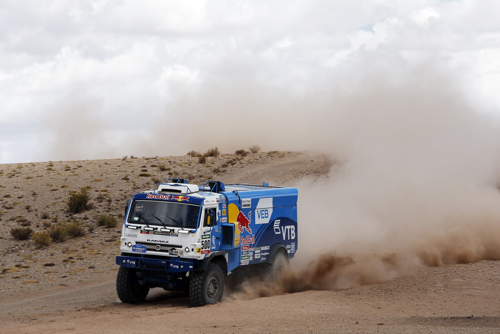 500 MARDEEV Airait BELYAEV AYDAR SVISTUNOV DMITRIY (rus) KAMAZ action during the Dakar 2016 Argentina,  Bolivia, Etape 7 - Stage 7, Uyuni - Salta,  from  January 9, 2016 - Photo Florent Gooden / DPPI