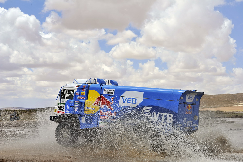 502 NIKOLAEV EDUARD YAKOVLEV EVGENY RYBAKOV VLADIMIR (rus) KAMAZ action during the Dakar 2016 Argentina,  Bolivia, Etape 7 - Stage 7, Uyuni - Salta,  from  January 9, 2016 - Photo DPPI