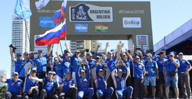 Kamaz ambiance podium during the Dakar 2016 Argentina,  Bolivia, Etape 13 / Stage 13,  Villa Carlos Paz – Rosario, Finish - Podium  from  January 16, 2016 - Photo Eric Vargiolu / DPPI
