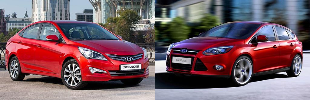 Сравниваем Hyundai Solaris или Ford Focus 3